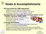 goals accomplishments