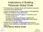 implications of building petascale global grids