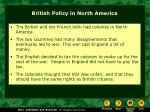 british policy in north america