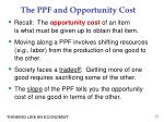 the ppf and opportunity cost