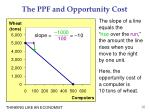 the ppf and opportunity cost1