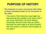 purpose of history