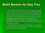 brief review for day two1