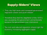 supply siders views