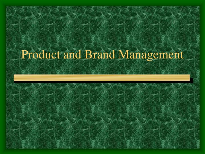 product and brand management n.