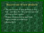 success rate of new products