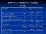 survey descriptive statistics n 127