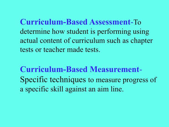 Curriculum-Based Assessment