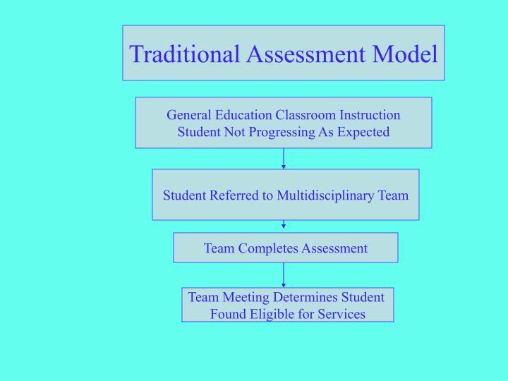 Traditional Assessment Model