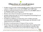 objectives of overall project