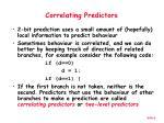 correlating predictors