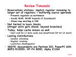 review tomasulo