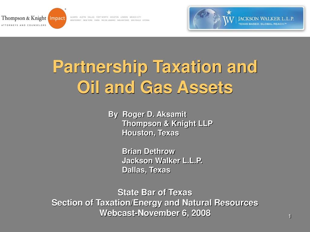 partnership taxation and oil and gas assets l.