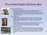 the united states declares war
