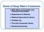 some of deep web s customers