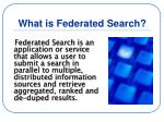 what is federated search