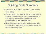 building code summary