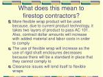 what does this mean to firestop contractors