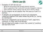 ohm s law 2
