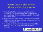 nature conservation bureau ministry of the environment