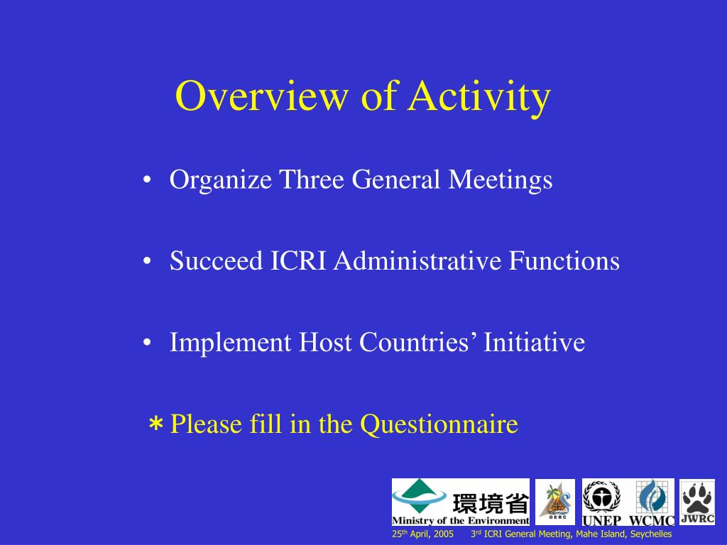 Overview of Activity