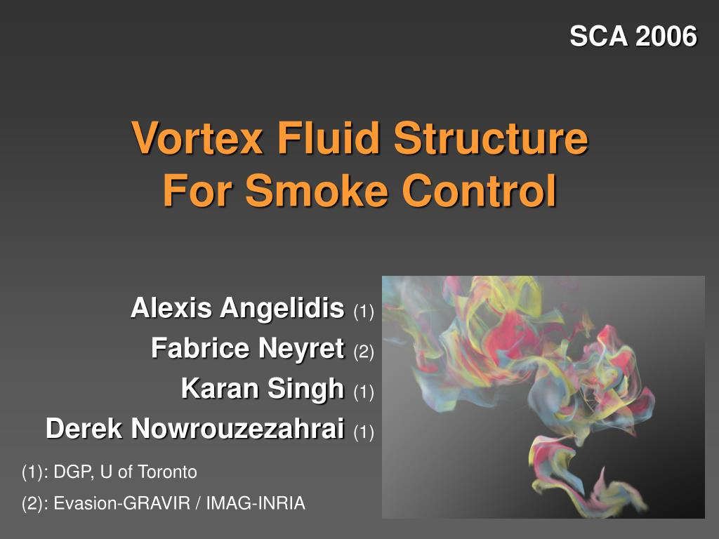 vortex fluid structure for smoke control l.