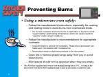 preventing burns1