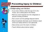 preventing injury to children