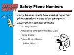 safety phone numbers