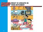 what is unsafe in this kitchen