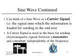 sine wave continued