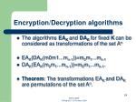 encryption decryption algorithms