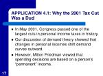 application 4 1 why the 2001 tax cut was a dud