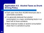 application 4 5 alcohol taxes as drunk driving policy