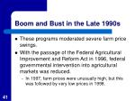 boom and bust in the late 1990s1