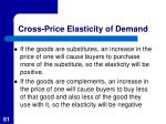 cross price elasticity of demand1