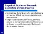 empirical studies of demand estimating demand curves