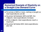 numerical example of elasticity on a straight line demand curve1