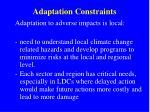 adaptation constraints2