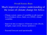 overall science basis