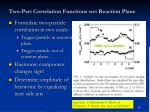 two part correlation functions wrt reaction plane