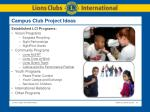 campus club project ideas