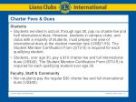 charter fees dues