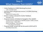 step 3 what happens post ganis