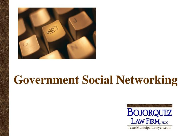 government social networking n.