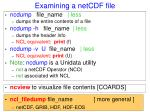 examining a netcdf file