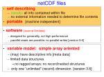 netcdf files