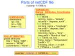 parts of netcdf file