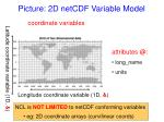 picture 2d netcdf variable model