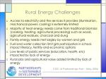 rural energy challenges